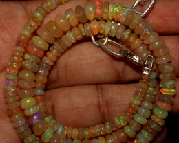 49 Crts Natural Ethiopian Welo Opal Beads Necklace 900