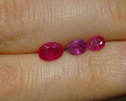 Ruby and Sapphire 0.80ct/0.55ct/0.40ct  Untreated !!!