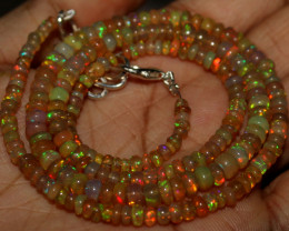 50 Crts Natural Ethiopian Welo Opal Beads Necklace 1258