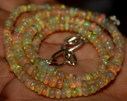 43 Crts Natural Ethiopian Welo Opal Beads Necklace 1251