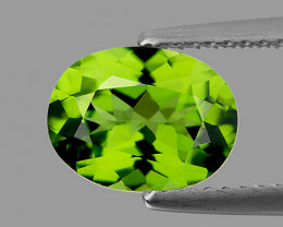 9x7 mm Oval 1.85cts Green Peridot [VVS}