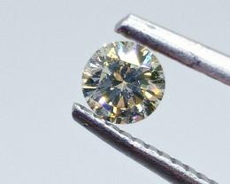 0.35ct  Light greenish Yellow Diamond , 100% Natural Untreated