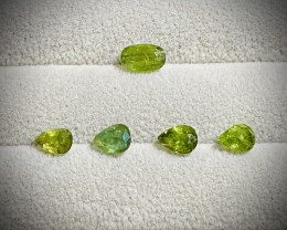 10.28ct tw  Natural Green Sapphire Parcel Lot