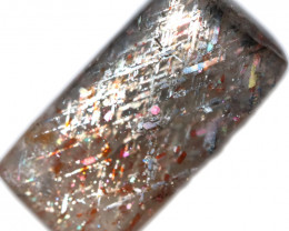 10 $ PER CARAT 10.65 CTS   RAINBOW LATTICE SUNSTONE  -POLISHED  [STS1067]