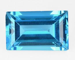 London Topaz 3.57 Cts Londaon Blue Color Natural Gemstone