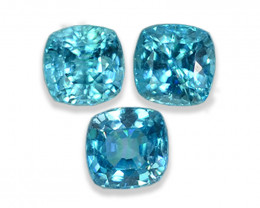 3.38 Cts Dazzling Lustrous Cambodian Blue Zircon