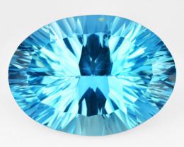 14.51 Carat Millennium Cut Super Swiss Blue Natural Topaz Gemstones