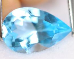 6.20cts Natural Pear Cut VVS Swiss Blue Topaz / KL528