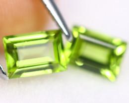 2.27cts Natural VVS Apple Green Peridot Pairs /KL537