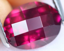 Checkerboard Cut 3.25cts Natural Purplish Red Rhodolite Garnet / KL539