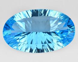 16.65 Carat Millennium Cut Super Swiss Blue Natural Topaz Gemstones