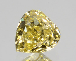 0.14 Cts Natural Untreated Diamond Fancy Yellow Heart Mix Pear Cut Africa
