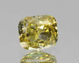 Beautiful!! 0.19 Cts Natural Untreated Diamond Fancy Yellow Cushion Cut Afr