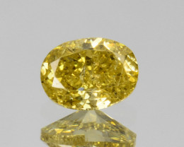 ~UNTREATED~ 0.16 Cts Natural Diamond Fancy Yellow Oval Cut Africa