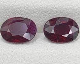 1.25 Carats Rubellite Tourmaline Gemstones