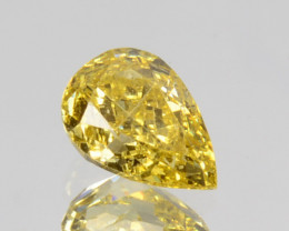 ~UNTREATED~ 0.18 Cts Natural Diamond Fancy Yellow Pear Cut Africa
