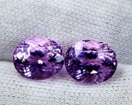 14 CT Natural - Unheated Pink Kunzite Gemstone Pair