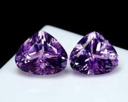 14.50 CT Natural - Unheated Pink Kunzite Gemstone Pair