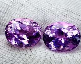 31 CT Natural - Unheated Pink Kunzite Gemstone Pair