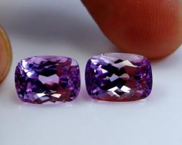 12.05 CT Natural - Unheated Pink Kunzite Gemstone Pair