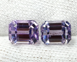 8.70 CT Natural - Unheated Pink Kunzite Gemstone Pair