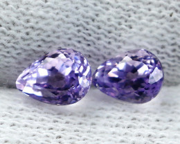 2.30 CT Natural - Unheated Pink Kunzite Gemstone Pair