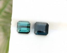 4 Ct Natural Dark Green & Blue Transparent Tourmaline Gems Parcels