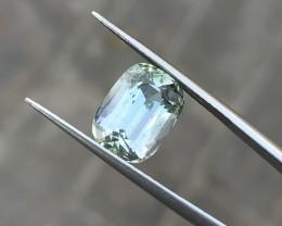 4.35 Ct Natural Yellow Transparent Kunzite Triphane Gemstone