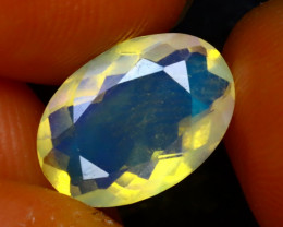 Welo Opal 1.40Ct Natural Faceted Ethiopian Play of Color Opal EF2322/A3