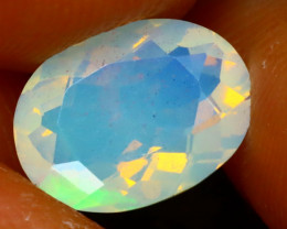 Welo Opal 1.28Ct Natural Faceted Ethiopian Play of Color Opal EF2324/A3