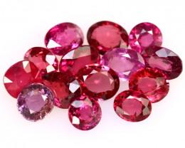 Rhodolite 12.93Ct 14Pcs Natural Purplish Red Rhodolite Garnet  EN54/B2