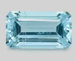 Blue Aquamarine 2.80 Cts Un Heated Natural Loose Gemstone