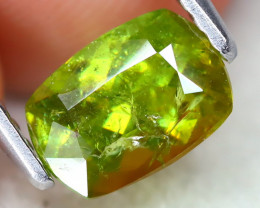 Sphene 1.28Ct Cushiou Cut Natural Vivid Green Color Sphene B2014
