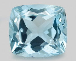 2.45 Cts Un Heated  Blue  Natural Aquamarine Loose Gemstone