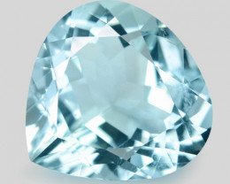 5.96 Cts Un Heated  Blue  Natural Aquamarine Loose Gemstone