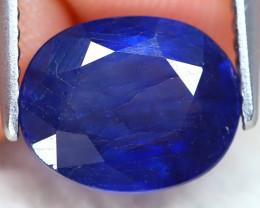 Blue Sapphire 3.37Ct Oval Cut Royal Blue Color Sapphire C2002