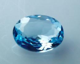 1.10 CT Natural - Unheated Blue Aquamarine Gemstone