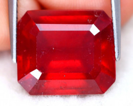 Red Ruby 12.73Ct Octagon Cut Pigeon Blood Red Ruby C2018