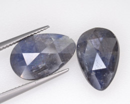 Natural Sapphire Pair 14.95 Cts From Afghanistan