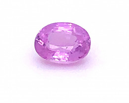 GIA Certified 1.02 Carats Pink Sapphire Unheated No Treatment Oval Cut