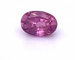 GIA Certified Unheated Purplish Pink Sapphire 1.57 Carats