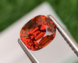 2.21 Cts Custom Cut Amazing Luster Orange Red Spessartite Garnet