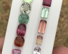 17.55 carats blue ,red and green colour Tourmaline Gemstones  parcel