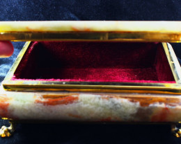 8500 CT Natural - Unheated Onyx Carved Jewelry Box Stone Special Shape