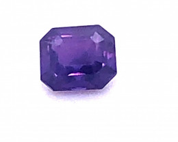 Unheated GIA Certified 1.08 Carat Purple Sapphire Octagonal Cut