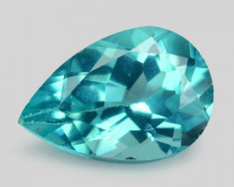 1.69 Cts Un Heated Natural Blueish Green Apatite Loose Gemstone