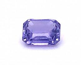Unheated GIA Certified Purple Sapphire 1.27 Carats Octagonal Cut No Treatme