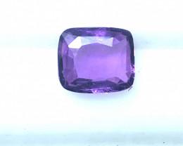 Unheated Purple Sapphire GIA Certified 1.56 Carat Untreated GIA Certificate