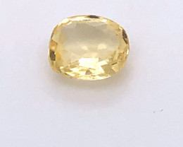 GIA Certified Yellow Sapphire 1.04 Carats Unheated Untreated Cushion Cut