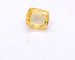 GIA Certified Unheated Yellow Sapphire 1.21 Carat Cushion Cut No Treatments